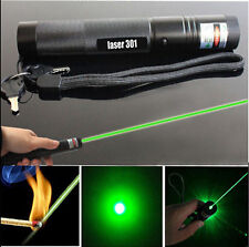 New 10 Miles Military Green 1MW 532NM Laser Pointer Pen Lazer Visible Beam Burn