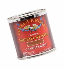 General Finishes Oil Based Penetrating Wood Stain, 1/2 Pint, Candlelight