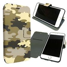Apple iPhone 6s Plus 6 Plus Camouflage Premium Wallet Flip Slim Case Stand Cover