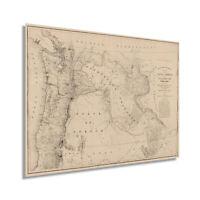 HISTORIX Vintage 1859 State of Oregon and Washington Territory Map