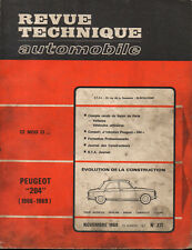 RTA revue technique automobile n° 271 PEUGEOT 204 berline coupe cabriolet 1968