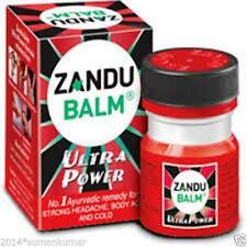2x Zandu Balm Ultra Power Strong Headache, Backache,Knee Joint Pain, Cold