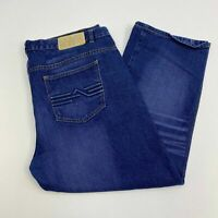 Revolve Denim Jeans Mens 40X32 Blue Straight Leg Regular Fit Cotton Medium Wash