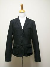 ADEC 2 by Philippe ADEC Charcoal Gray Black Ribbed Cotton Blazer Jacket Size 10
