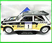 Model Car Rally Renault 5 Maxi R5 Scale 1:18 diecast solido Rallye Du Var
