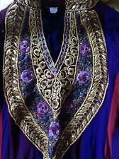 Purple Anarkali Churidaar Wedding Party Dress Indian Pakistani Bollywood
