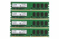 Crucial 8GB 4X 2GB DDR2 667MHz 240PIN PC2-5300 Desktop DIMM Memory Low Density