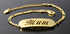 MUM - Bracelet With Name - 18ct Yellow Gold Plated - Gifts For Her - Fashion