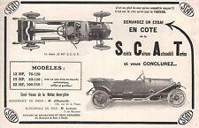 Publicité Automobile SCAT Torino Turin  car vintage  ad  1914 -2j