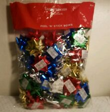 Inspirations From Hallmark Peel And Stick Bows 75 Count Red Silver Blue Green...