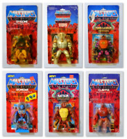 He-man Figure Lot of 6 Motu Masters of the Universe Mattel Vintage Moc Sealed