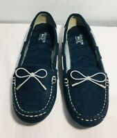 Cushion Walk By Avon Flats Size 7 Women's Navy Blue Round Toe Slip On
