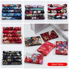 5pcs Japanese Fabric Cotton Gilted Sakura Flower Clothing Handmade Patchwork DIY