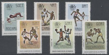 JO LOS ANGELES Mozambique 6 val de 1984 ** BOXE NATATION FOOTBALL BASKET COURSE
