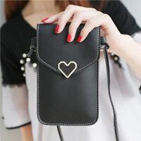 Women Leather Handbag Coin Cell Phone Cross Body Shoulder Touch Screen Bag Purse