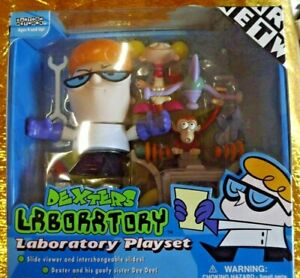 Dexter's Laboratory Playset Action Figures and Slides Viewer. Trendmasters 2000