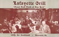 Postcard Lafayette Grill Restaurant in Brunswick, Georgia~117674