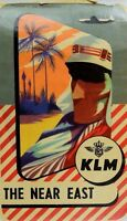1950's KLM The Near East Airline Luggage Label Fabulous! *G