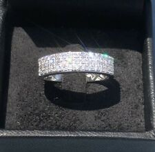 MENS 14K White Gold Genuine Diamond Ring 1.10ct. G VS2 Size 11 - LOTS OF SPARKLE