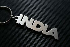 INDIA Personalised Name Keyring Keychain Key Fob Bespoke Stainless Steel Gift