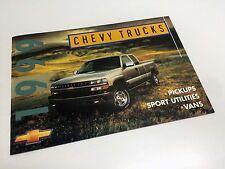 1999 Chevrolet S-10 Tracker Blazer Venture Astro Silverado Suburban Brochure