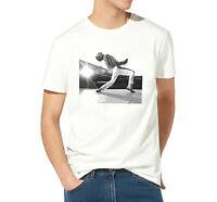 T shirt homme freddie mercury Rock star Queen 100% coton Haute qualité blanc