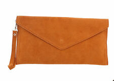 Suedette Envelope Clutch / Shoulder Bag in a choice of Stunning Colours