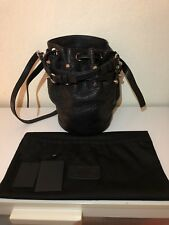 Alexander Wang Small Diego Bucket Bag lamb Skin Black