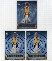 (3 LOT) 2019-20 Anthony Davis Panini Donruss Optic T Minus Purple #2 Lakers Card