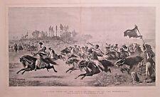 Czikar Horse Race, Austrian Frontier Of Herzegovina, Vintage 1876 Antique Print
