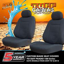 TUFF CANVAS CUSTOM SEAT COVERS to Suit Toyota Prado 150 Series 3Row 2009-10/2013