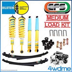 """Isuzu Dmax 2012 on 4WD Bilstein B6 & EFS Leaf Spring Medium COMPLETE 2"""" Lift Kit"""