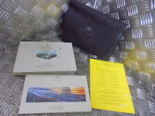 2001 MERCEDES E220 W210 2.2 CDI 4DR SALOON OWNERS MANUAL WALLET WITH BOOKLETS