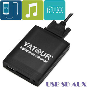 Yatour Digital Music Changer USB SD Aux Interface For Peugeot Citroen RD3 Radios