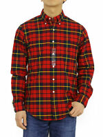 Polo Ralph Lauren LS Long Sleeve Classic Fit Button Down Shirt Tartan Plaid