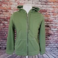 JONES NEW YORK WOMEN'S GREEN COTTON BLEND FULL ZIP KANGAROO HOODIE SIZE L A18-22