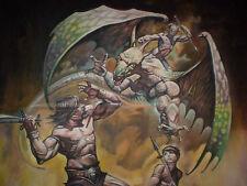 Conan  Painting Repo like  Fantasy Painting  Comic Book Dragon ART Dragons
