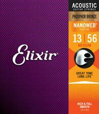 Elixir Phosphor Bronze with NANOWEB .013 - .056 Medium Acoustic Strings (16102)