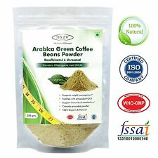 Green Coffee Beans Powder 200gm, Decaffeinated & Unroasted Arabica Coffee for We