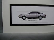 1984  Ford Mustang SVO  From  50 Year Anniversary Exhibit by artist