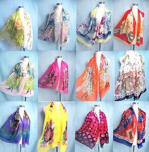 lot of 10 wholesale chiffon scarf wrap shawl women gifts bulk lot