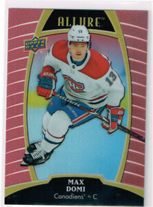 2019-20 UD Allure Sunset E-Pack #15 Max Domi - Montreal Canadiens