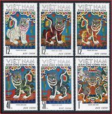 VIETNAM du NORD N°734/739** Tableaux Tigres,1971 North Vietnam 644-649 Tigers NH