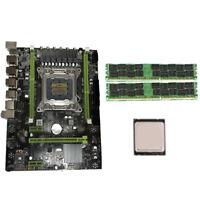 X79 Motherboard Set with LGA2011 Combos Xeon E5 2620 CPU 2Pcs x 4GB = 8GB M W6U4