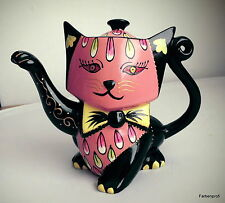 "Jameson&Tailor-Teekanne Porzellan 0,9 L -handgemalt - Design "" Katze  1846 """