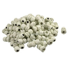H● 100Pcs PG9 Range 4mm- 8mm Plastic Waterproof Cable Gland Connector