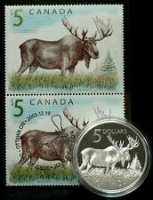 2004 - Majestic Moose & $5.00 Coin & Stamp Set - RARE, only 12,822 SOLD