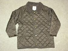 Gymboree Toddler Boys Brown Quilted Jacket Xs 3 - 4