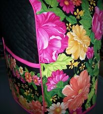 Colorful Zinna Blossoms Quilted Fabric Cover for KitchenAid Mixer NEW
