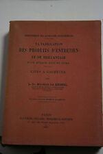La Fabrication Des Produits D'entretien Brillantage .. Maurice De Keghel 1947